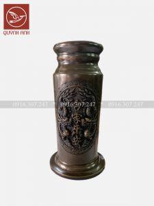 Ống Hương Đồng Mạ Màu Giả Cổ - Mẫu 1
