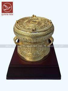 Mô Hình Trống Đồng - Dát Vàng 24k