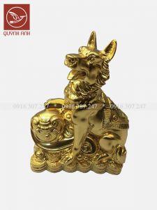 Tượng Chó Đồng Dát Vàng 24k - Mẫu 1