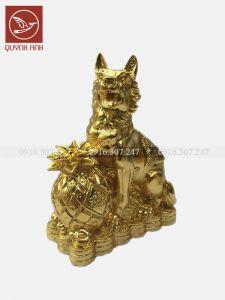 Tượng Chó Đồng Dát Vàng 24k - Mẫu 3