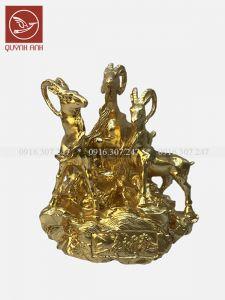Tượng Dê Đồng Dát Vàng 24k - Mẫu 4