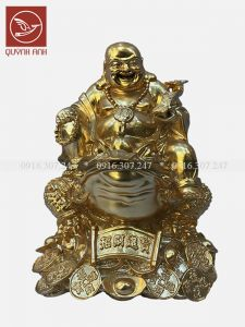 Tượng Phật Di Lạc Cưỡi Thiềm Thừ - Dát Vàng 24k