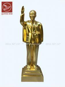 Tượng Bác Hồ Đứng Chào - Dát Vàng 24k