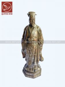 Tượng Khổng Minh Khảm Tam Khí - Mẫu 2