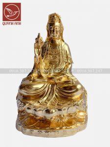 Tượng Phật Bà Quan Âm - Dát Vàng 24k