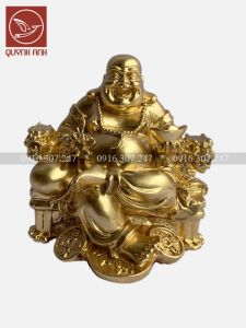 Tượng Phật Di Lạc Ngồi Ngai - Dát Vàng 24k