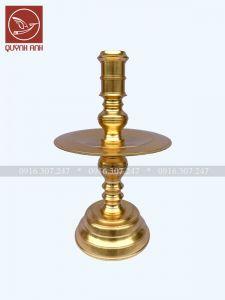 Mẫu Chân Nến Đồng - Dát Vàng 24k