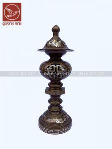 Đèn Đồng Khảm Ngũ Sắc - Mẫu 2