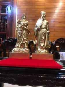 Tượng Quan Công ,Khổng Minh đồng vàng