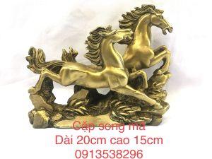 Ngựa song mã bằng đồng