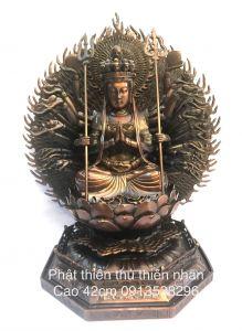 Phật thiên thủ thiên nhãn,cao 42cm