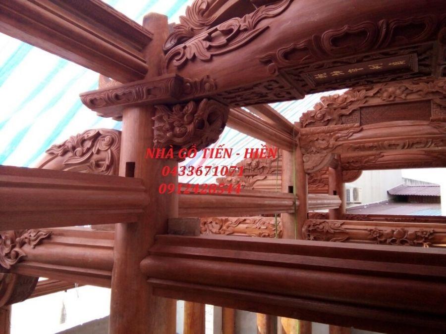 Công trình do nhà gỗ tiến hiền vừa nắp dựng tại Phường Phú Lương - Hà Đông - Hà Nội