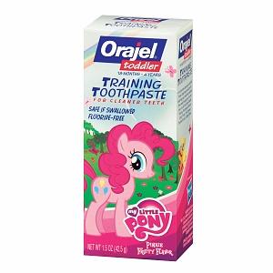 Orajel-Kem đánh răng nuốt được- pink ponny