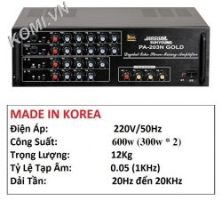 AMPLIFIER JARGUAR SUHYOUNG PA-203N GOLD