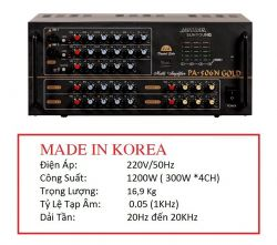 AMPLIFIER JARGUAR SUHYOUNG PA-506N GOLD