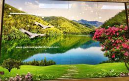 tranh hồ núi cò bay