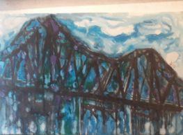 Long Bien Bridge In Blue Tone