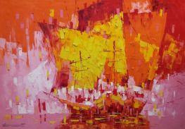 Sailing Boats Red Tone