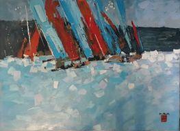 Abstract Sailing Boats