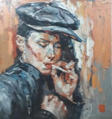 Lady Smoking 09