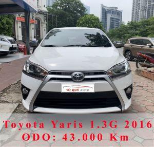 Xe Toyota Yaris 1.3G 2016 - Trắng