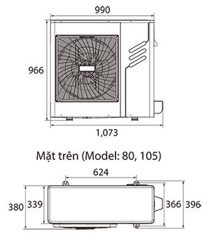 Điều hòa trung tâm Mini VRF Midea MDV-V105W/DN1 4HP