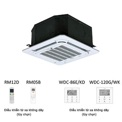 Dàn lạnh âm trần cassette điều hòa trung tâm Midea MDV-D22Q4/N1-A3 7,500BTU