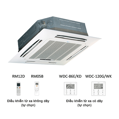 Dàn lạnh âm trần cassette điều hòa trung tâm midea MDV-D56Q4/N1-D 19,100BTU
