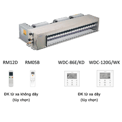 Dàn lạnh nối ống gió điều hòa trung tâm Midea MDV-D56T3/N1-C 19,100BTU