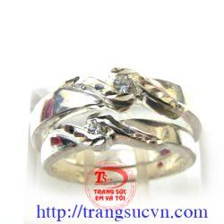 Cặp nhẫn đôi  logo TSVN