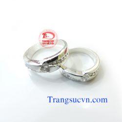 Nhẫn đôi  bạc đẹp-Tình yêu