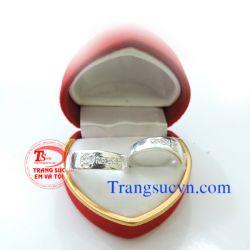 Nhẫn đôi bạc nguyên chất đẹp-TSVN