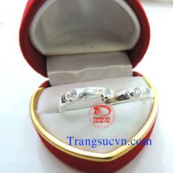 Nhẫn đôi đẹp bạc ta  92.5%-TSVN