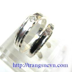 Nhẫn đôi gắn đá  đẹp-Tình yêu
