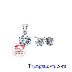 Bộ Trang sức kim cương  đẹp