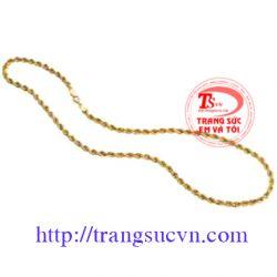 Dây chuyền vàng tây-TSVN