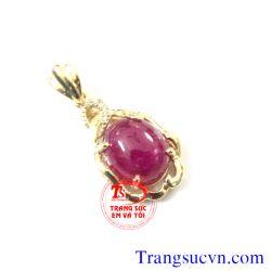 Mặt dây vàng 10k-đá ruby