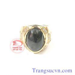 Nhẫn nam sapphire đen