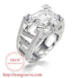 Nhẫn nam gắn kim cương  đẹp