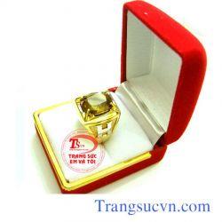 Nhẫn nam thạch anh vàng-TSVN