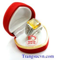 Nhẫn Citrine vàng tây 14k  đẹp