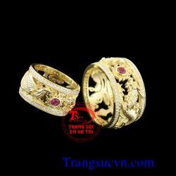 Đôi nhẫn cưới mệnh hỏa đẹp