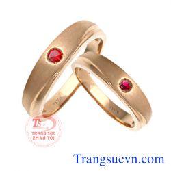 Cặp nhẫn cưới ruby  đẹp