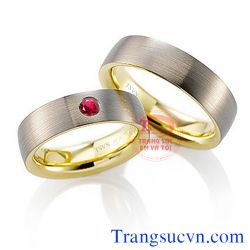 Nhẫn cưới một viên ruby đẹp