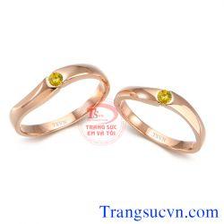 Nhẫn cưới sapphire vàng TSVN