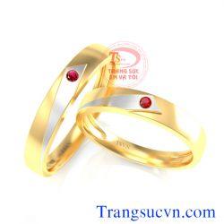 Nhẫn cưới vàng ruby TSVN