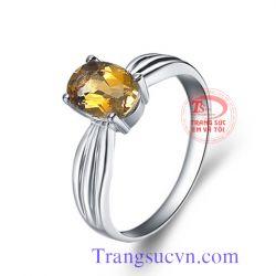 Nhẫn nữ trái tim vàng trắng 14K