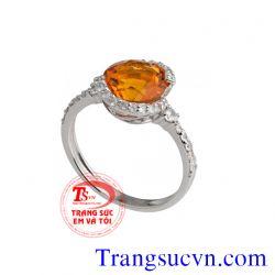 Nhẫn nữ vàng tây đá quý đẹp