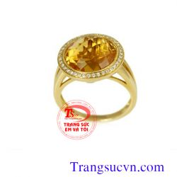 Nhẫn thạch anh vàng nữ  TSVN