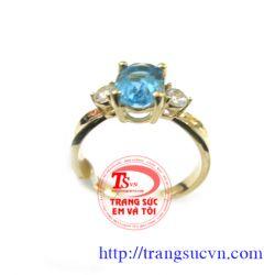 Nhẫn nữ topaz đẹp  mới